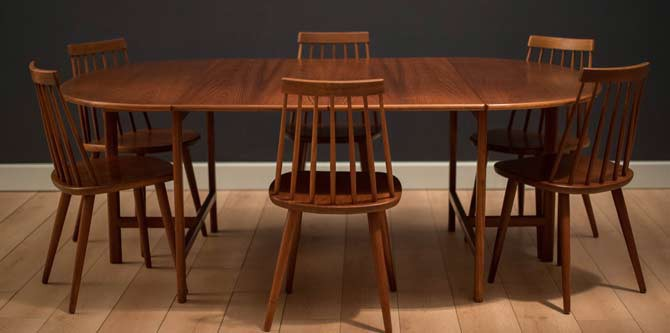 Teak Expandable Dining Table by Karl Erik Ekselius for JOC Vetlanda