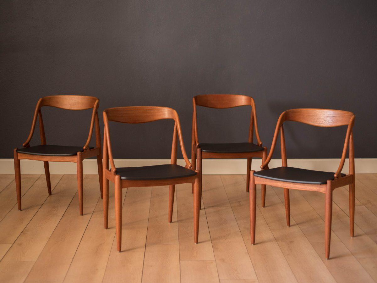 Mid Century Jerry Johnson Walnut Sling Chairs Mid Century