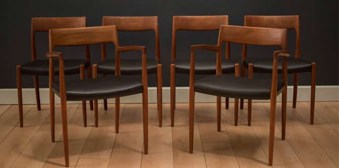 Danish Niels Moller 57/77 Dining Chairs