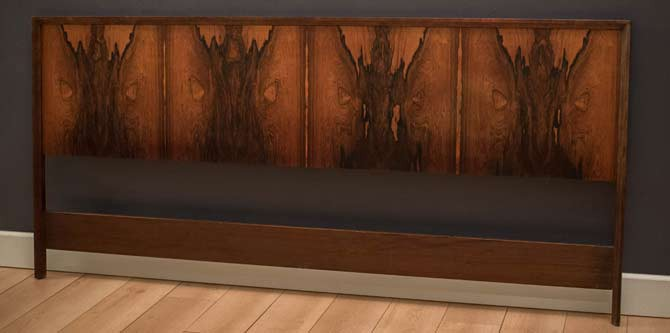 Rosewood King Headboard by Westnofa in Norway