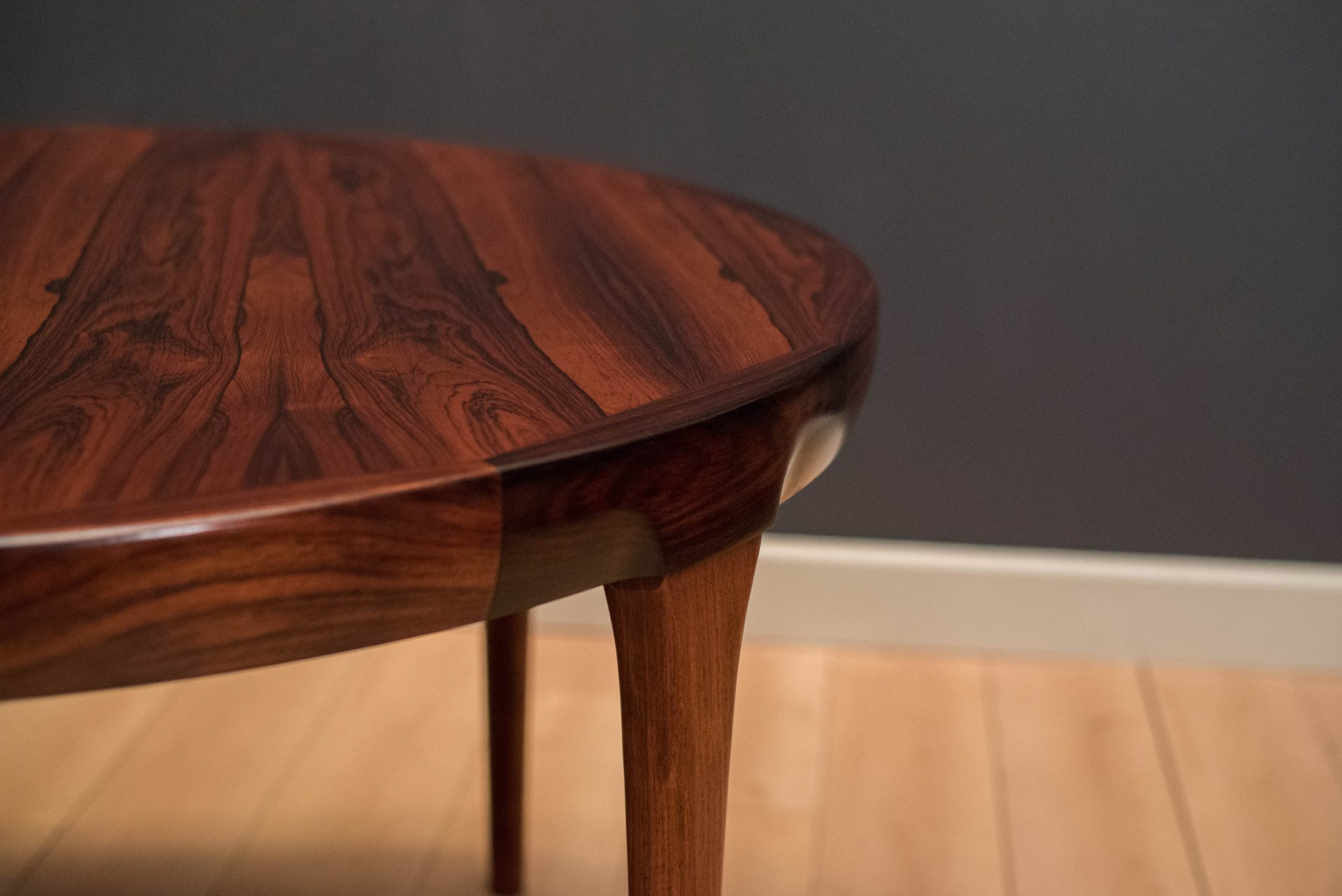 Danish Rosewood Round Dining Table By Ib Kofod Larsen