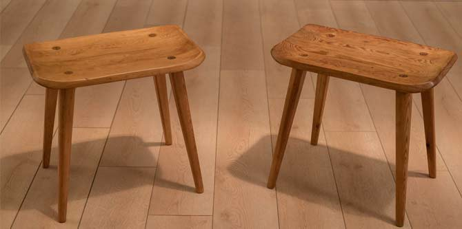 Pair of Early Vintage Swedish Stools